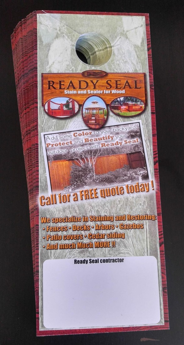 Ready Seal 174 Door Hangers 100 Pack Free Plus S H Ready